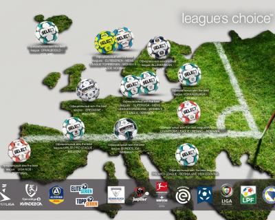 SELECT - официальный поставщик мячей для ведущих чемпионатов
